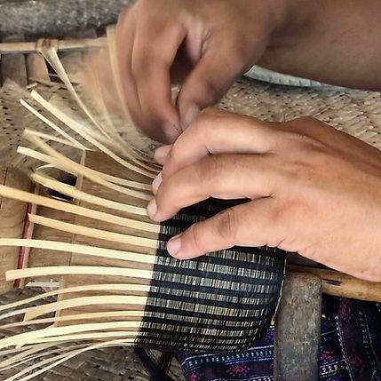 bol bougeoir bambou laque crin de cheval objet ethique