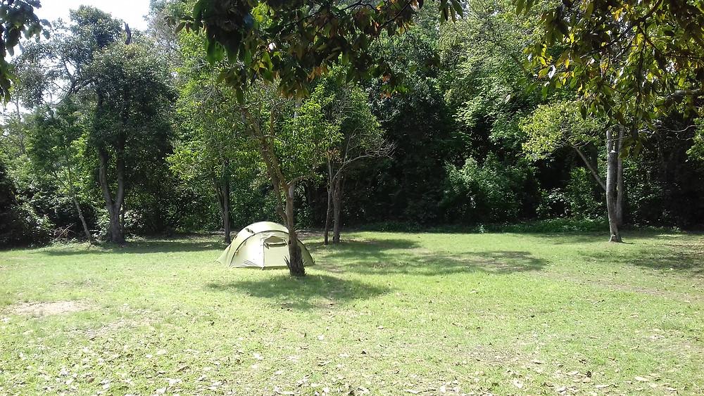 Notre campement, dans la savane