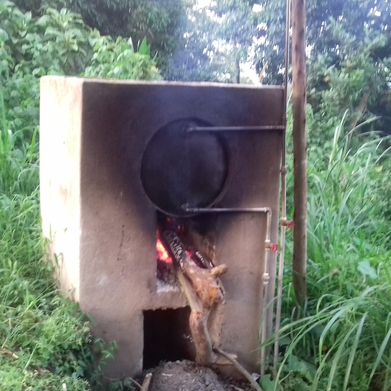 le chauffe-eau rustique