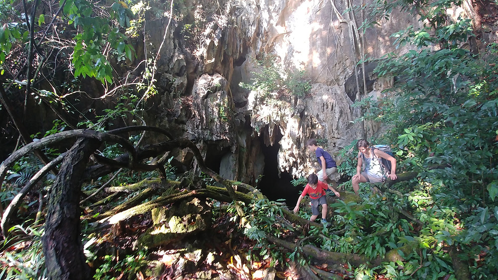 L'entrée de la grotte