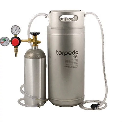 Cocktail Kegging Draft System with New 5 Gal Ball Lock Torpedo Keg