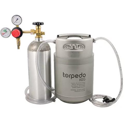 Cocktail Kegging Draft System with New 2.5 Gal Ball Lock Torpedo Keg