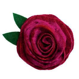 Plum Pudding Wet Felting Rose Corsage Kit.jpg