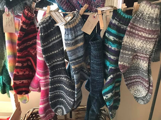 Hand Knitted Socks by DOT and Shelagh.jp