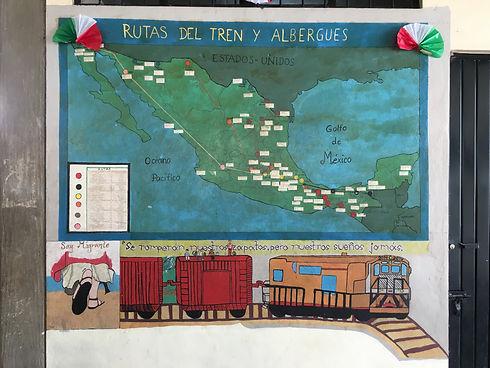 Murales en Casa del Migrante de Palenque
