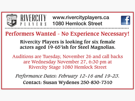 Audition notice!