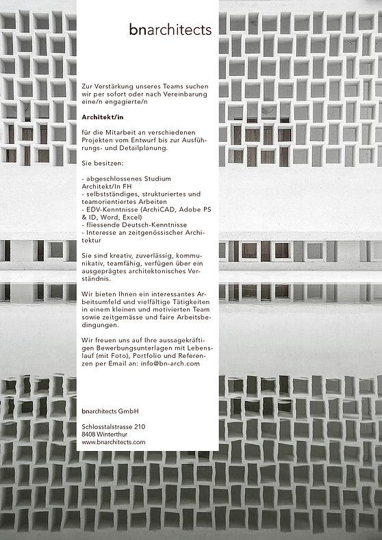 Inserat-Architekt