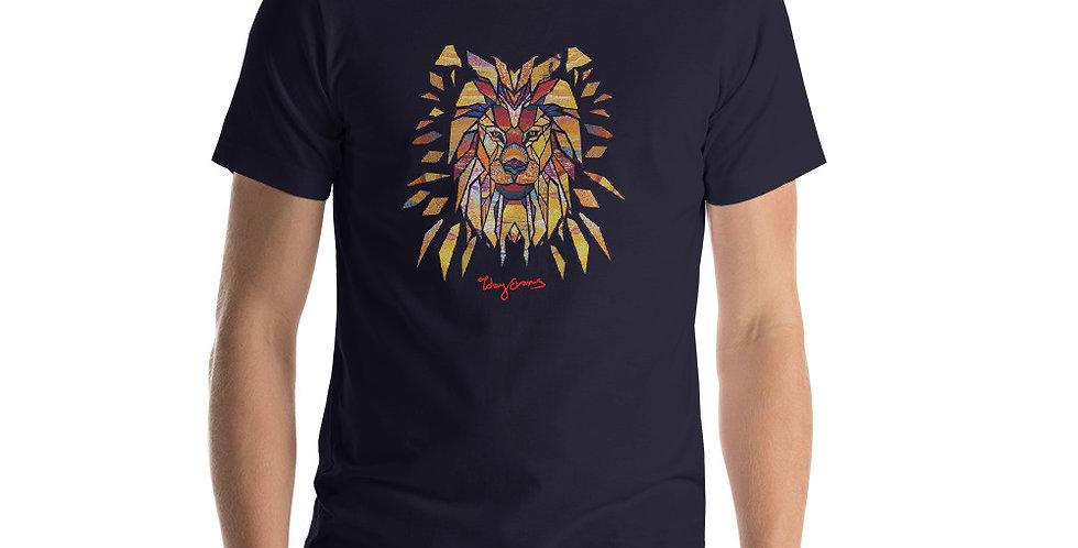Geometric Lion Short-Sleeve Unisex T-Shirt (Premium)