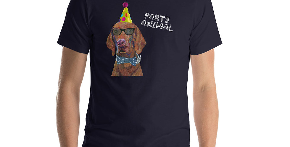 Viszla Dog | Party Animal Short-Sleeve Unisex T-Shirt