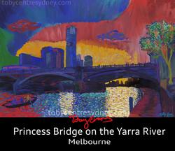 Melbourne Yarra river bridge
