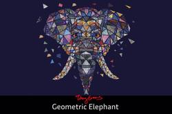 Geometric Elephant art