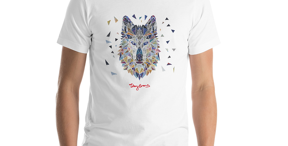 Geometric Wolf Short-Sleeve Unisex T-Shirt