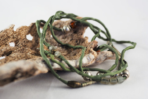 Silver paper rock  jewellery made by Anna Douglas