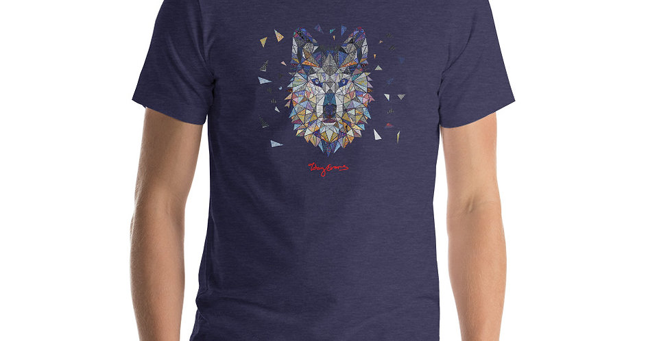 Geometric wolf Short-Sleeve Unisex T-Shirt (AUS)
