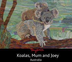Koala, mum and Joey