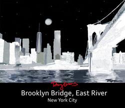 New York City Brooklyn Brg B&W 2