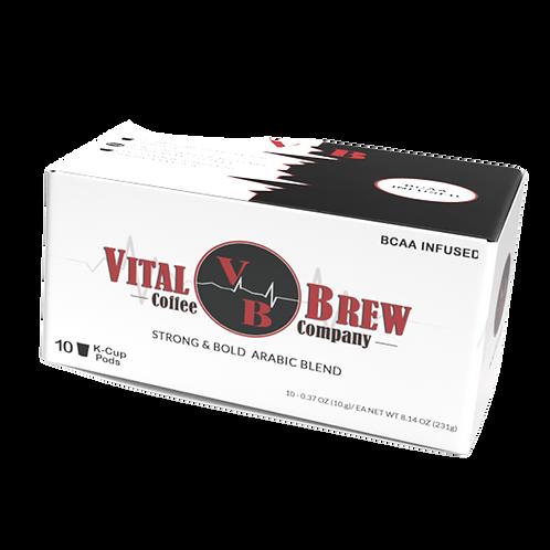 10 CT. Vital Brew K-Cups Ground Coffee