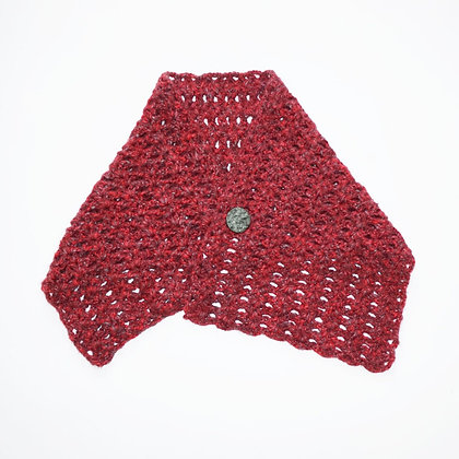 RED Crochet poncho