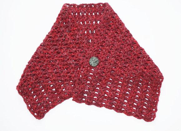 RED Crochet poncho