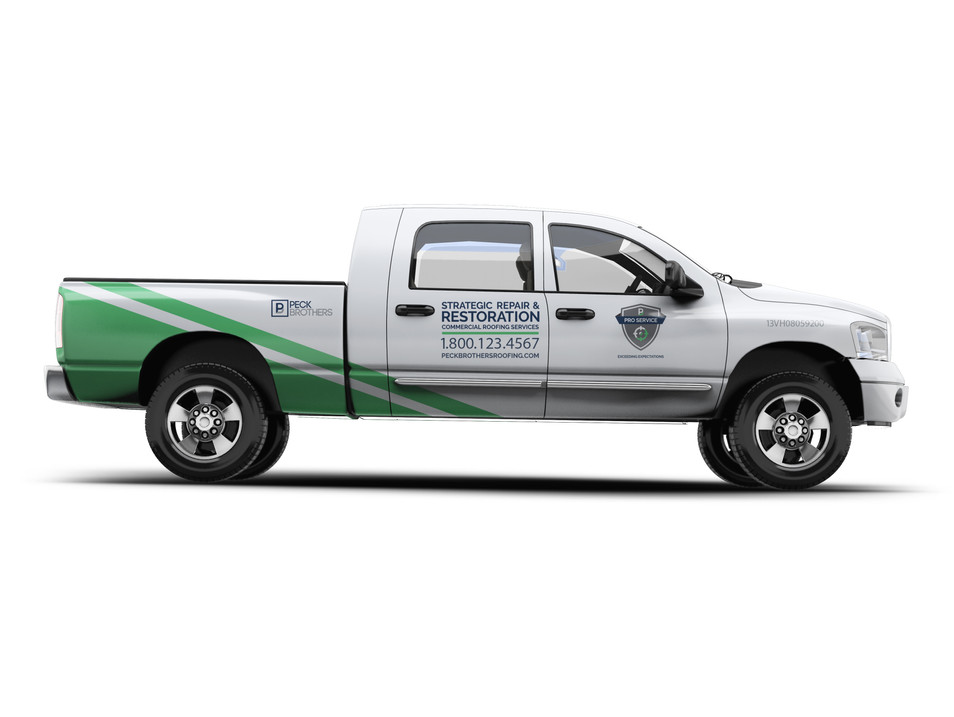 PECK BROTHERS ROOFING VEHICLE WRAPS