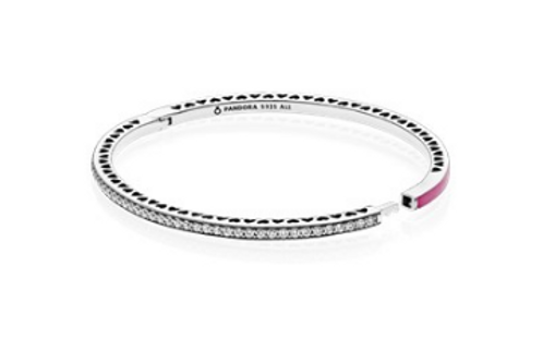 Radiant Hearts of PANDORA, Radiant Orchid Enamel & Clear CZ