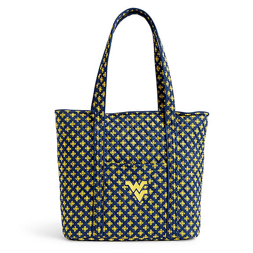Vera Tote in Navy/Var. Gold Mini Concerto with West Virginia Logo