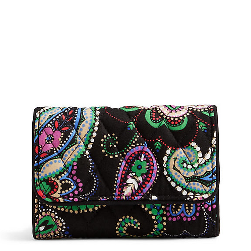 Riley Compact Wallet in Kiev Paisley