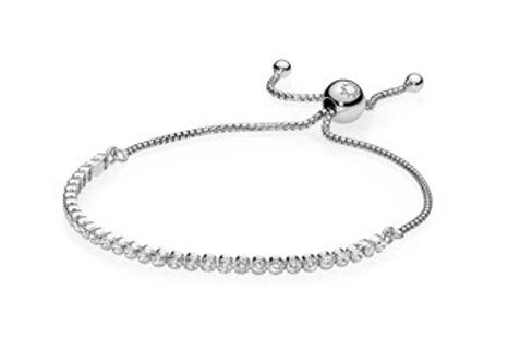 Sparkling Strand Bracelet, Clear CZ