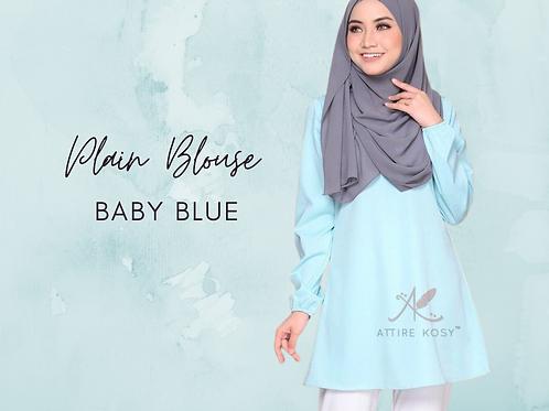 BABY BLUE PLAIN BLOUSE
