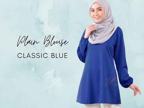 CLASSIC BLUE PLAIN BLOUSE