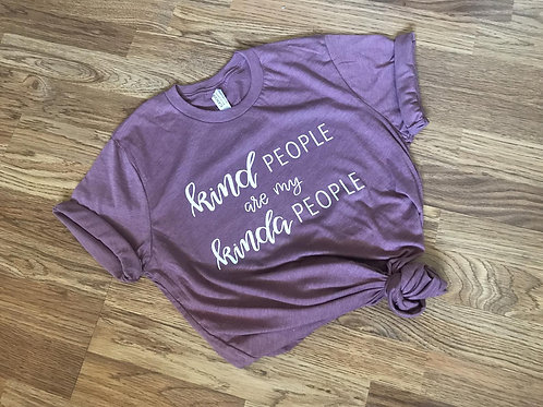 Kind People Are My Kinda People Mauve