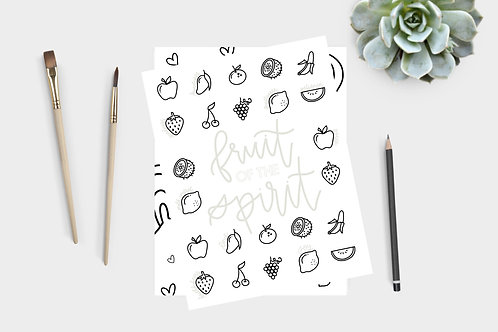 Fruit of the Spirit Coloring + Lettering Book
