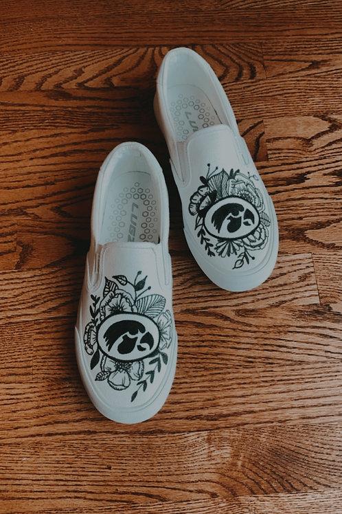 Custom Logo + Flower Shoes