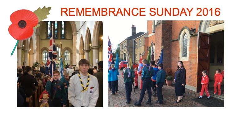 Uniformed groups at St Thomas' - 10am Mass, Sunday 13th November
