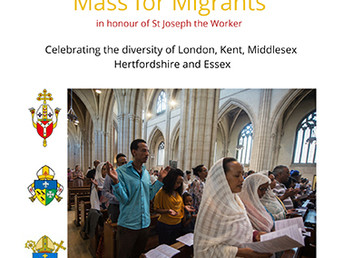 Mass for Migrants in honour of St Joseph the Worker