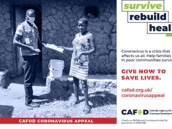 CAFOD coronavirus appeal
