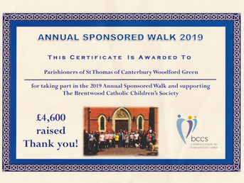 Parish annual sponsored walk