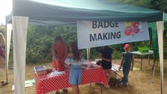 Badge Making at Parish Summer Fete 2018.jpg