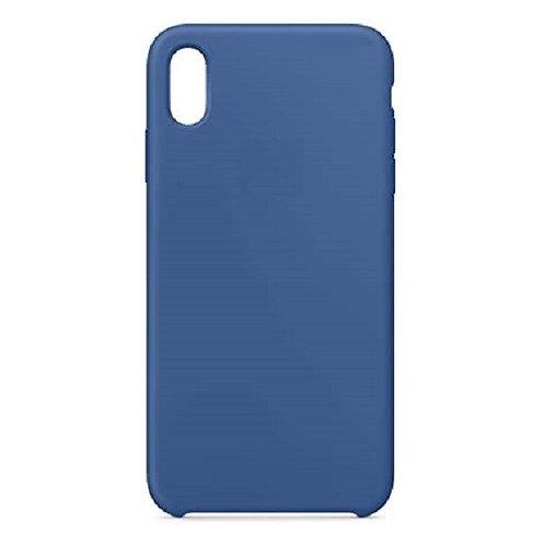 Custodia Silicone iPhone Xs Max Blu