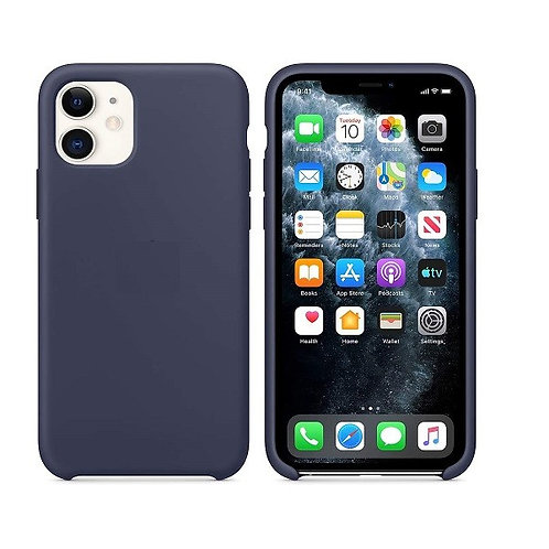 Custodia Silicone iPhone 11 Blu