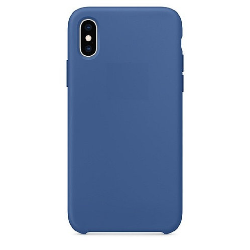 Custodia Silicone iPhone X/XS Blu