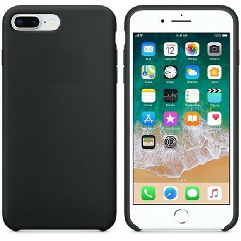 Custodia Silicone iPhone 7+/8+ Nero