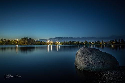 Bud Miller Park, Lloydminster AB at night