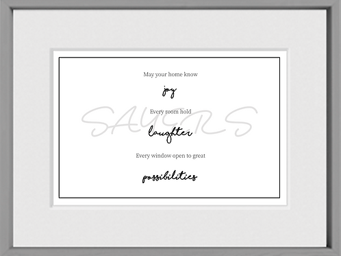 Home Print *Personalize*