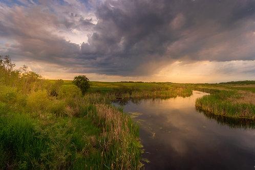 Turbulent skies over Alberta Prairie