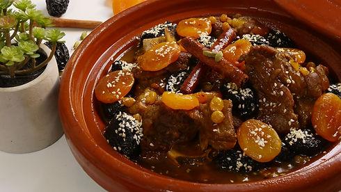 Moroccan lamb tagine with prunes and dri