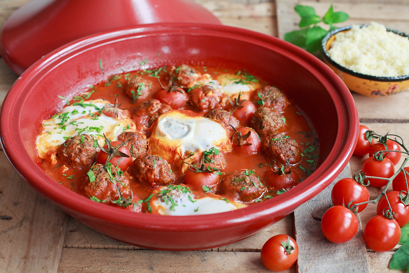 Moroccan tagine of lamb with kefta (meat