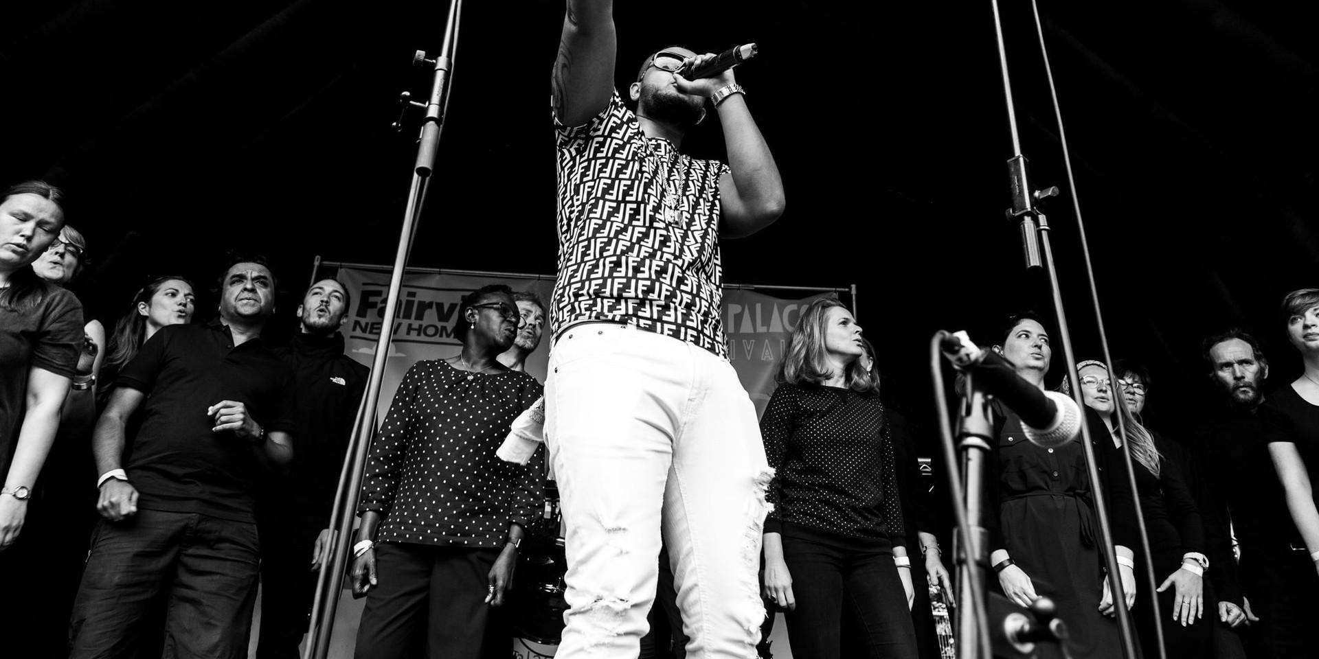 Backing Jay Snaggz at Crystal Palace Festival