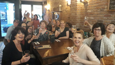 Post choir drinks in the Faber Fox May 2019