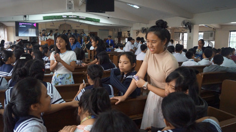 Sharing Time at Chapel Period
